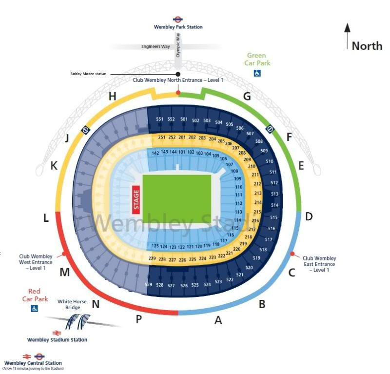 plans des stades UK WembleyMap