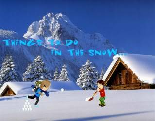 What can you do in the snow? Thingstodo