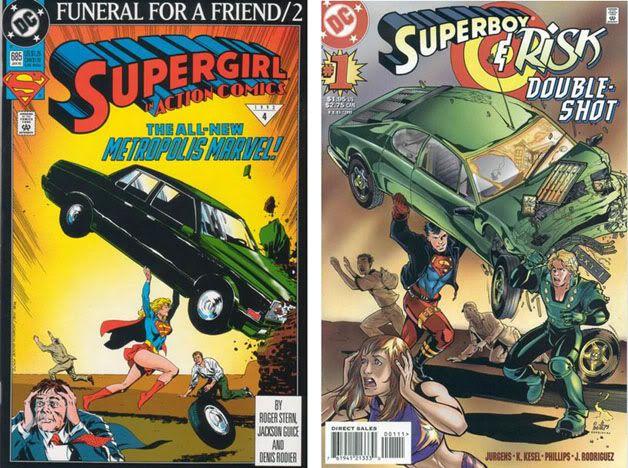 Homenajes a la portada de Action Comics #1 1-1
