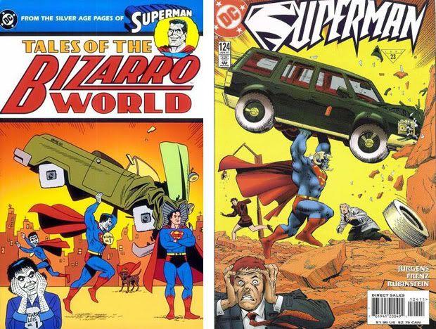 Homenajes a la portada de Action Comics #1 2-1