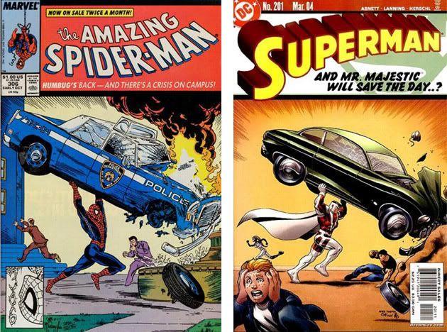 Homenajes a la portada de Action Comics #1 3-1