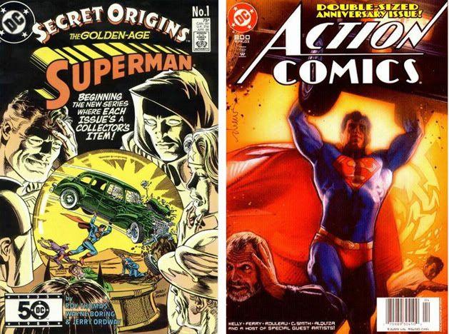 Homenajes a la portada de Action Comics #1 4-1