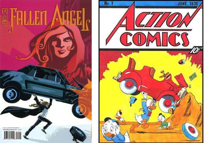 Homenajes a la portada de Action Comics #1 7-1