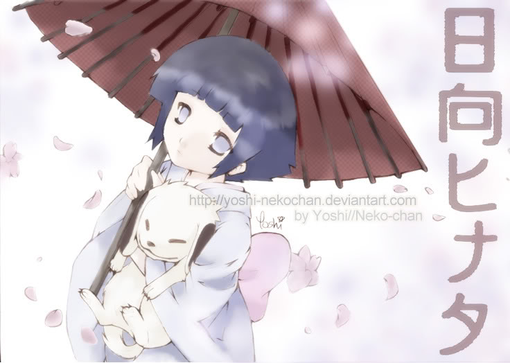 Fan Club Hinata-Sama __Hinata_san_and_Akamaru___by_yoshi