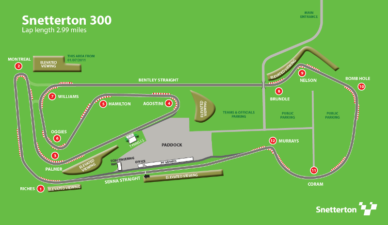 Classic Sports Car Championships, Snetterton 300: 14-15 Apr 2012 Snetterton_300_circuit_map