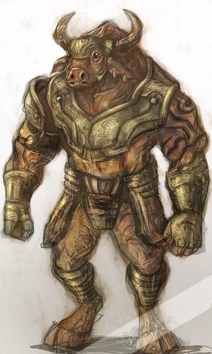 Libro de las Bestias Minotauro