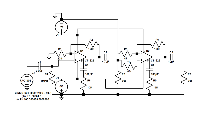Anyone else use LTspice software for electronics design? LTspiceSchematic-LT1222_zps5d5e3727