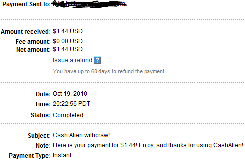 My Payments Thread (Updated - 12/23/10) CA2