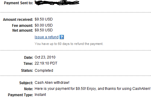 My Payments Thread (Updated - 12/23/10) CAPay