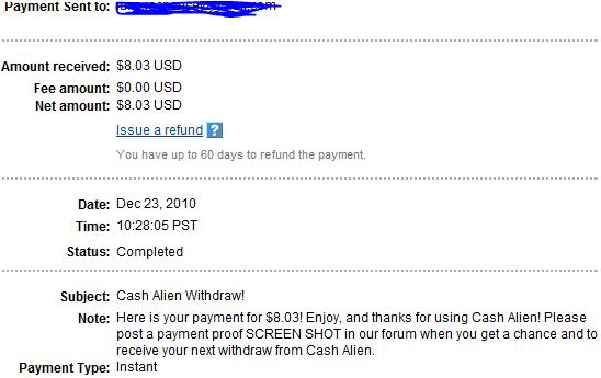 My Payments Thread (Updated - 12/23/10) Asdasdas