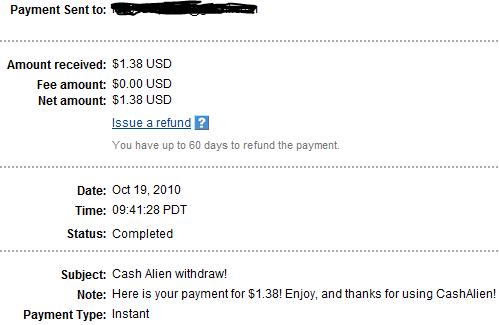 My Payments Thread (Updated - 12/23/10) Cashalien