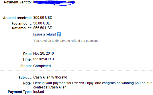 My Payments Thread (Updated - 12/23/10) Contestwinning