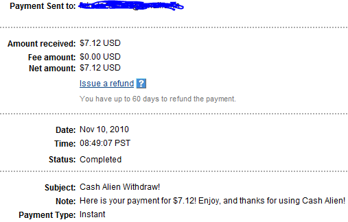 My Payments Thread (Updated - 12/23/10) Pay