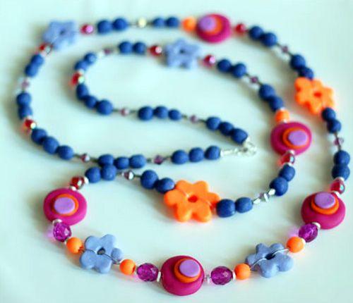 Schimb de materiale 2 Fimo-bead-necklace