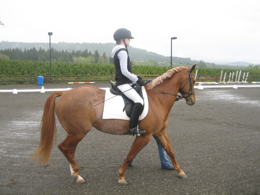 Shally and I at our first Dressage Show! IMG_1863