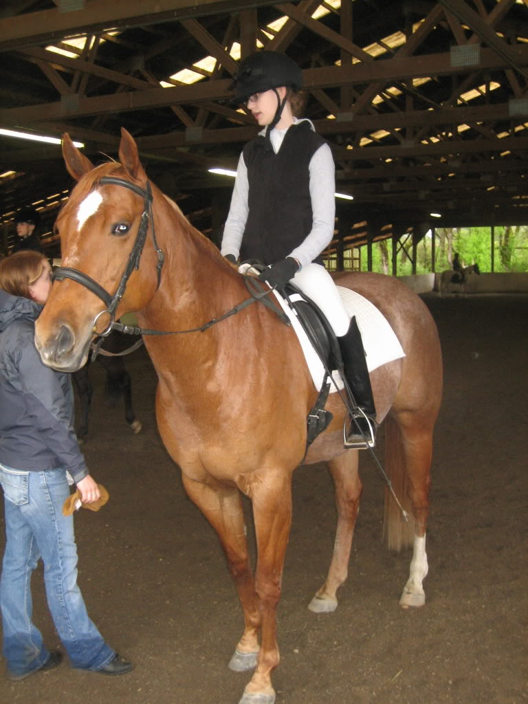 Shally and I at our first Dressage Show! IMG_1864