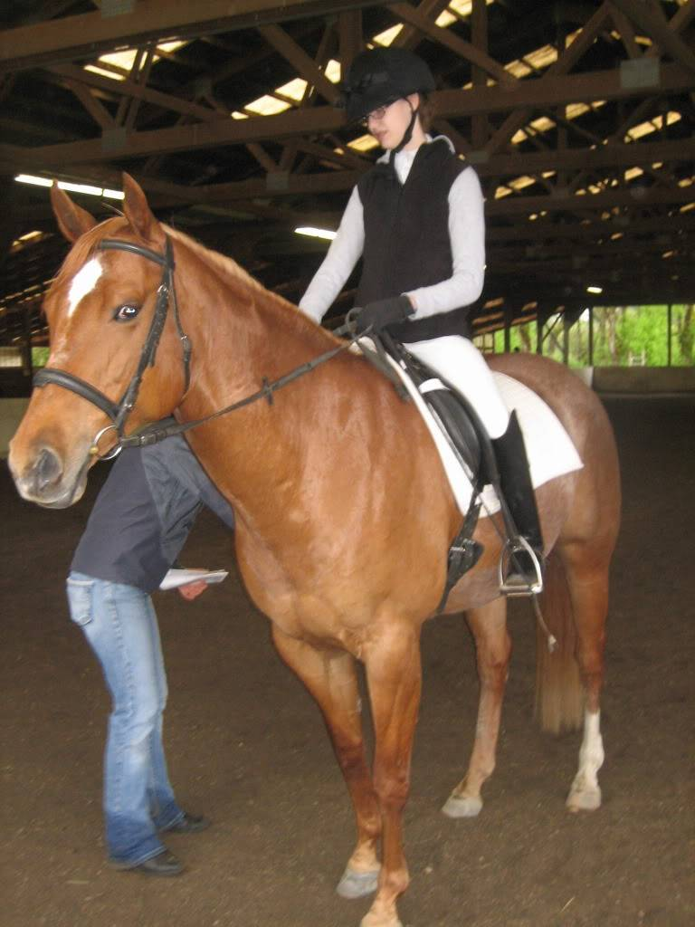 Shally and I at our first Dressage Show! IMG_1865