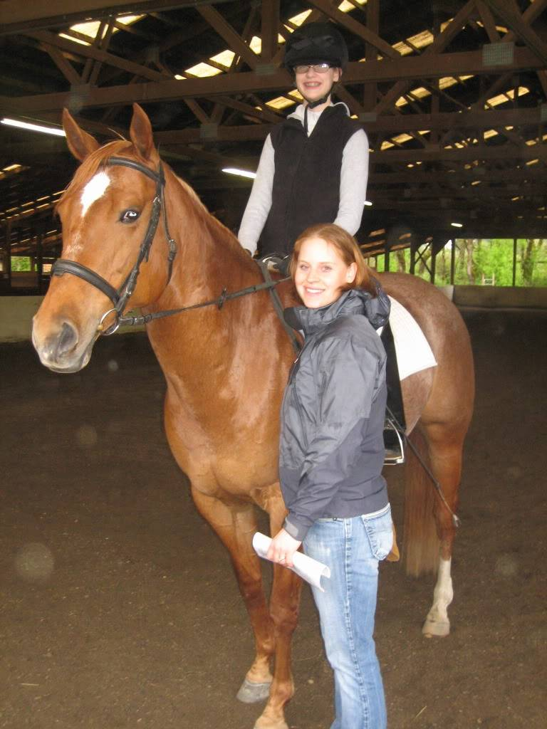 Shally and I at our first Dressage Show! IMG_1866