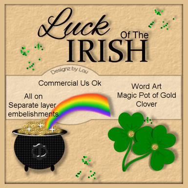 St Patties Day Embellishment - By: Designz By Lou PREVIEW