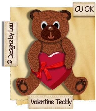 Valentine Teddy Bear - By: Designz By Lou Preview