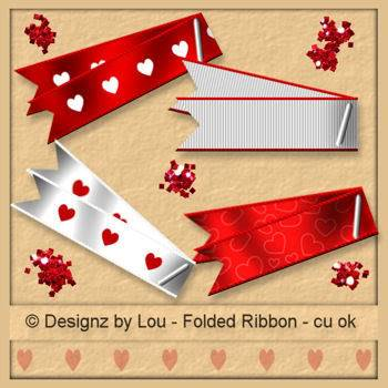 Valentine Folded Ribbons - By: Designz By Lou Layout