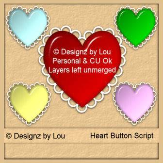 Valentine Heart Button PSP Script - By: Designz By Lou Layout1