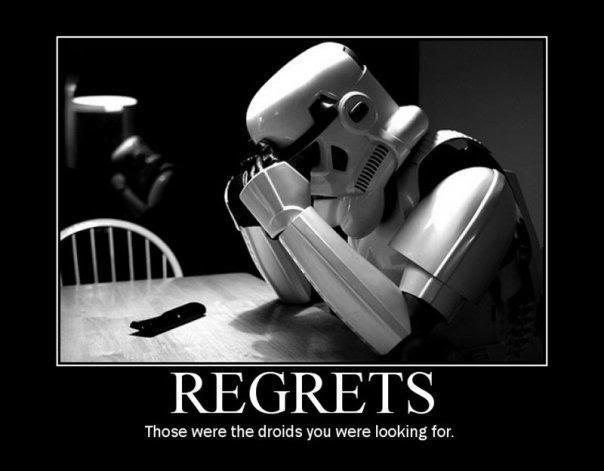Posters Motivacionales. Regrets