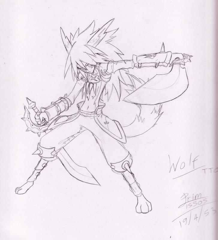 [ FANART ]  Fanart for Anime , Manga , Dojinshi , Games FA_Wolf_TTO