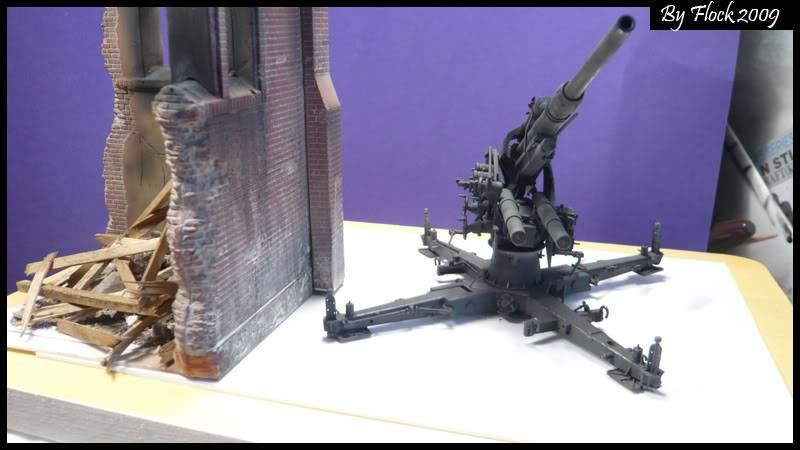 [DRAGON] 88 mm Flak 36/37 - 1:35 mise à jour 16/09/09...peinture terminé ,ruine d'église terminé pour dio... Flak_36_37_dio018
