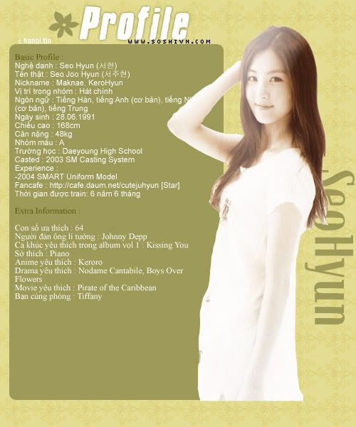 Nơi dành cho S♥ne !! (fan của Girls Generation~So Nyuh Shi Dae~SNSD) Seo