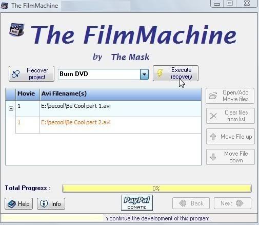 Handleiding voor The FilmMachine 1.6.1 16