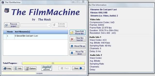 Handleiding voor The FilmMachine 1.6.1 4