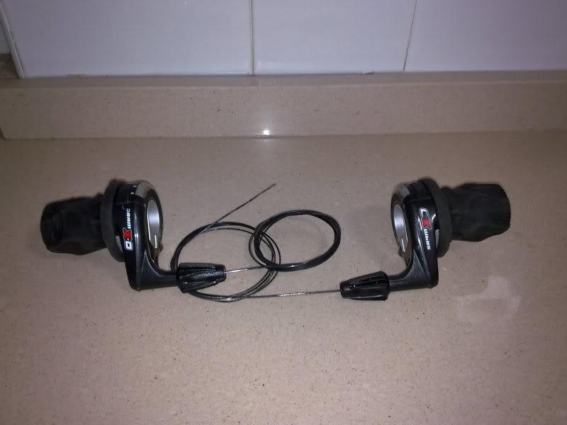 -VENDIDOS- SE VENDEN PAREJA DE MANDOS SRAM X0 Twister Shifter 9sp 24112010118