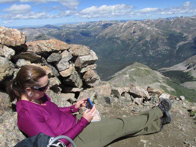 Hiking without Dogs~ La Plata peak CO~ 14,336ft 1891574_10207554445205170_6125961711973841059_o