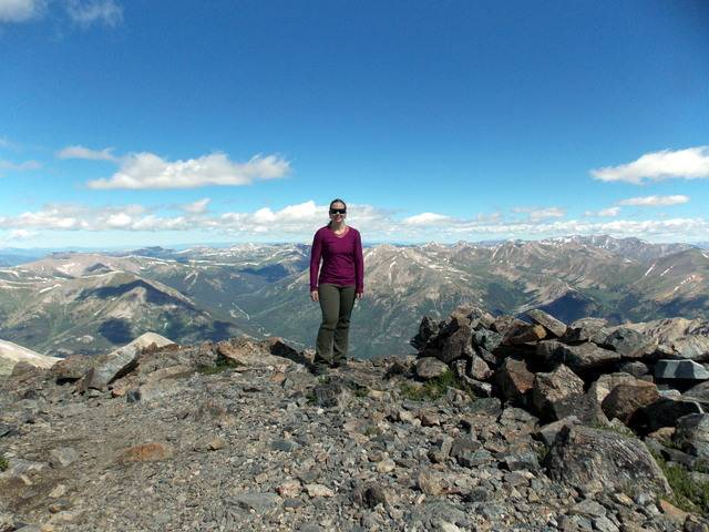 Hiking without Dogs~ La Plata peak CO~ 14,336ft DSCN2353
