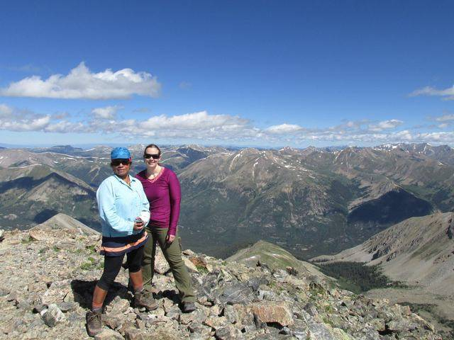 Hiking without Dogs~ La Plata peak CO~ 14,336ft Gina_ME_summit