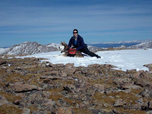 Hiking with Dogs~ Mt. Edwards~13,850 ft & Mt. McClellan~13,587ft- Colorado DSCN4458