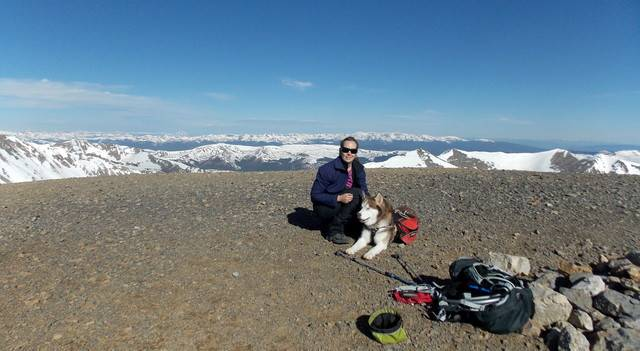 Hiking with Dogs~ Mt. Cameron, 14,238ft and Bross, 14,172ft DSCN3587