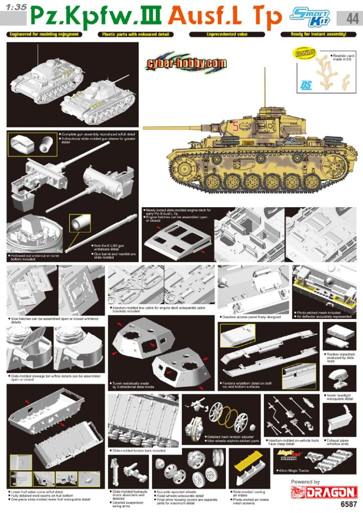 Early photos of Dragons new Pz III L 6587poster