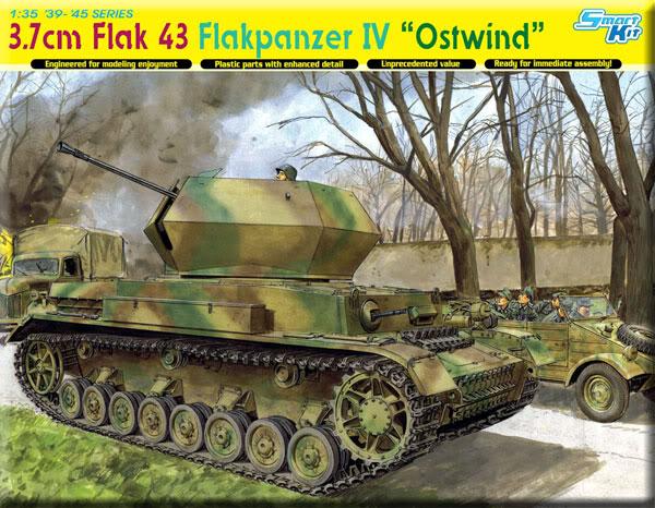 Dragon Flakpanzer IV Ostwind in box review. OstwindBox