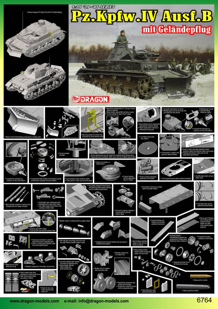 Dragon announces a new Pz IV B with Geflapengaffensummpinerother PzIVB
