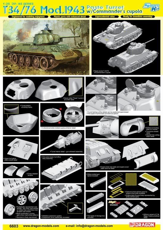 Dragon announces a new T-34 Updatedpastytank