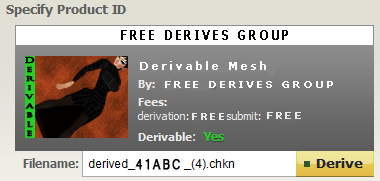 Free Derives Group