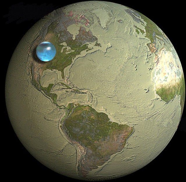 Water on Earth would fit into one 860-mile-wide ball  Earthwater
