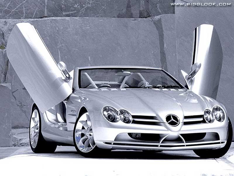 Qual a melhor? SLR X SLS MercedesSLRMcLarenWithBeautifulGirlsOnAutomotive2