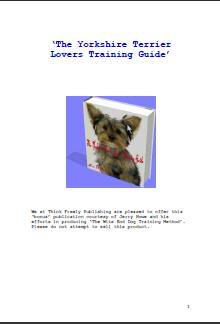 Yorkshire Terrier Lovers Training Guide Tertrainguid