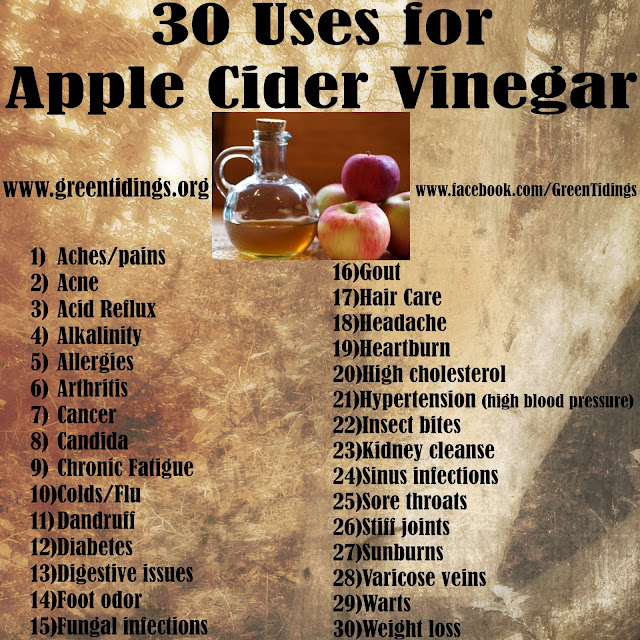 30 uses for apple cider vinegar Acv
