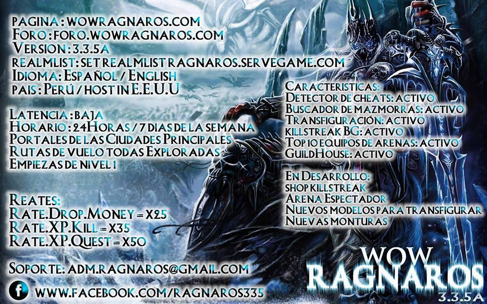 WoW Ragnaros -   server 3.3.5a -high reates Promo