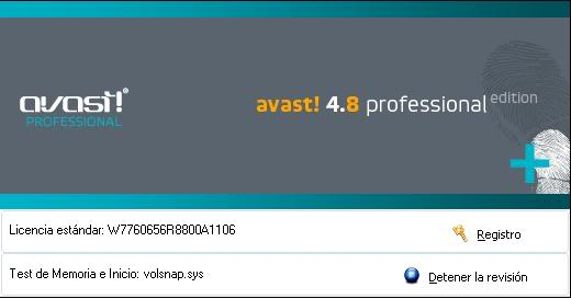 Avast! Antivirus Professional Edition 4.8 - Español + serial de oro Dibujo-11