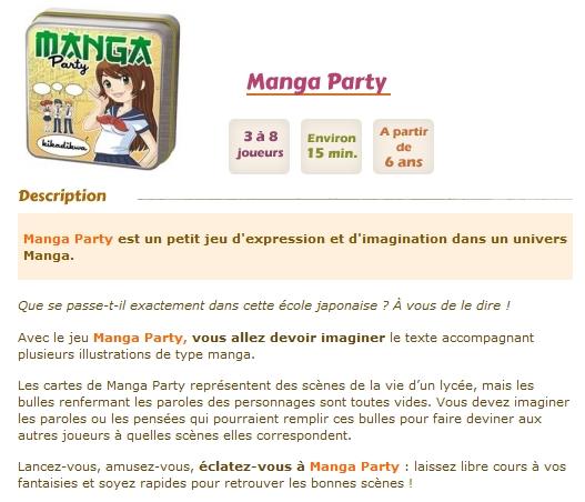 [Jeu de cartes] Manga Party Mangaparty